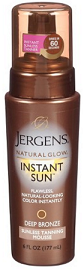Jergens Tan Mousse Self Tan Natural Glow Instant Sun