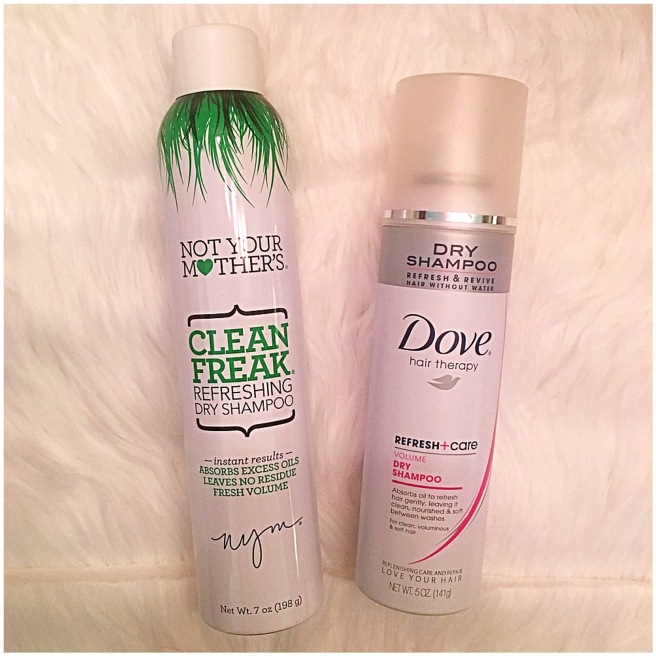 Not Your Mother's + Dove Dry Shampoos