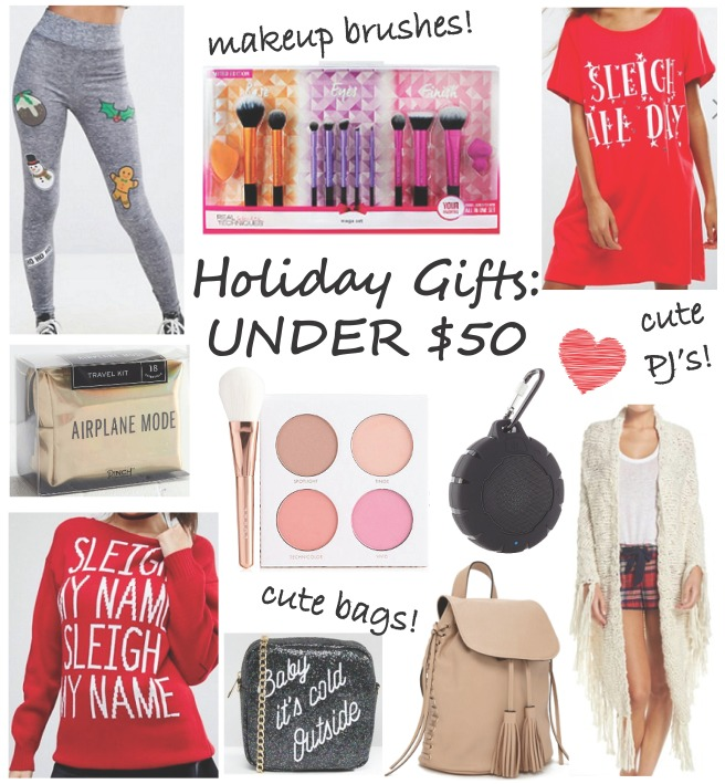 Under $50 Holiday Gift Guide (Christmas)