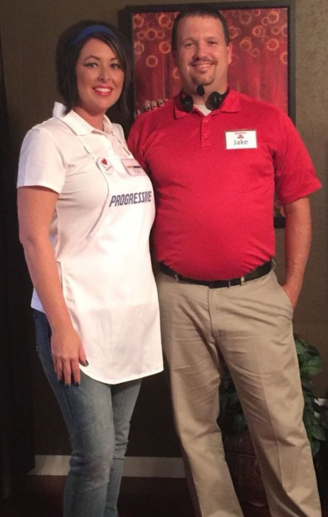 Flo and Jake from State Farm Halloween Costumes