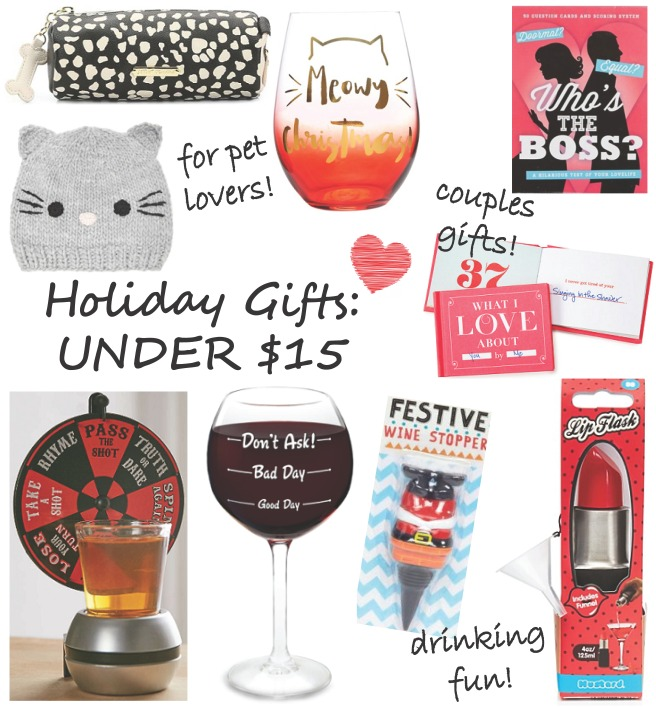 Under $15 Holiday Christmas Gift Guide