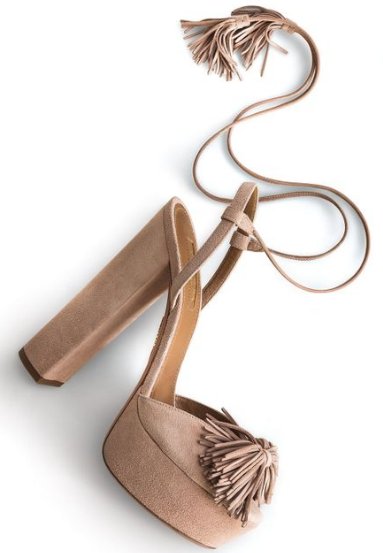 Aquazzura Wild One Tassel Sandal dupes