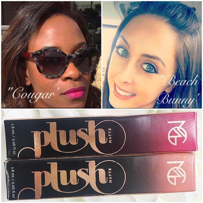 Makeup Geek Plush Matte Lips Cougar & Beach Bunny Swatch