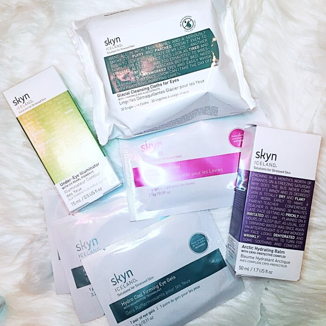 Skyn Iceland Under Eye Illuminator, Hydro Cool Firming Eye Gels, Plumping Lip Gels, Glacial Cleansing Cloths, Arctic Hydrating Balm