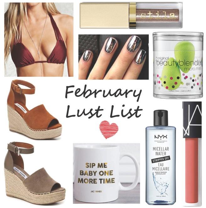 February Lust List Wish List