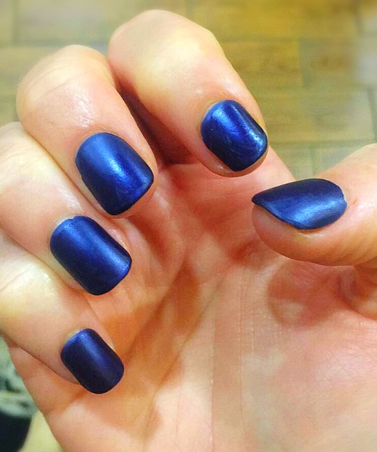 imPress Manicure Press On Nails Matte Blue