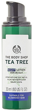 The Body Shop Tea Tree Oil Blemish Fade Night Lotion - Spring Empties