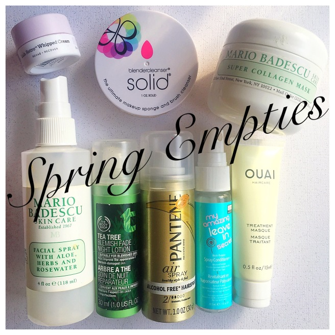 Spring Empties- Reviewing Products I U