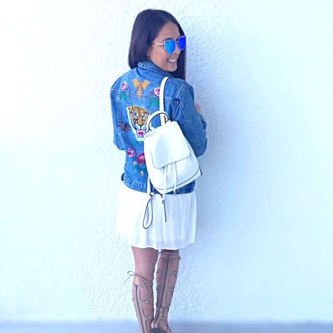 Embroidered Denim Jacket OOTD