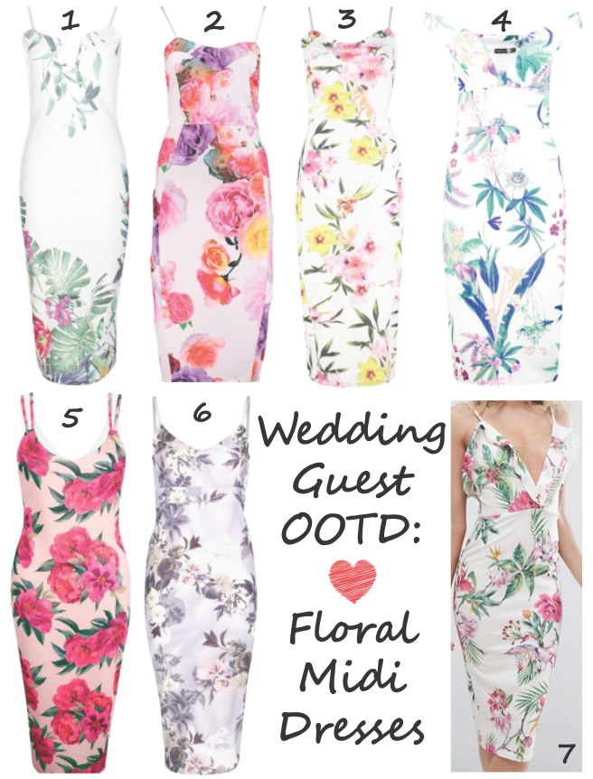 Wedding Guest OOTD - Floral Midi Dress