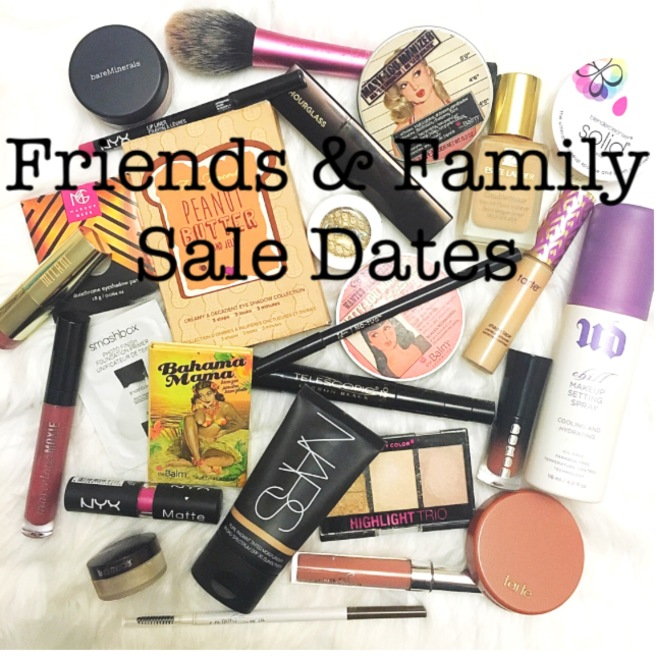Beauty Brands Friends & Family Sale Dates List