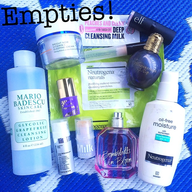 Summer Empties - Reveiews of Products I've Used Up