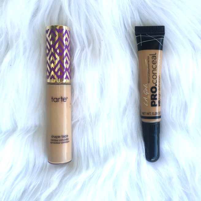 Most Expensive/Least Expensive Makeup - Tarte Shape Tape Concealer & L.A. Girl Pro Conceal