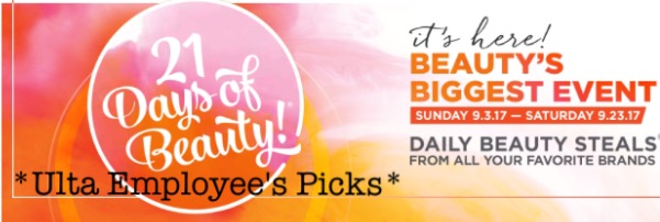 Ulta 21 Days of Beauty Sale Picks (from an Ulta Employee!)
