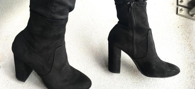 Target 'A New Day' Donnie Side Zipper Black Velvet Bootie