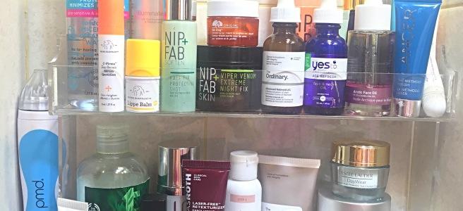 Bathroom Shelfie - Skincare Products Review