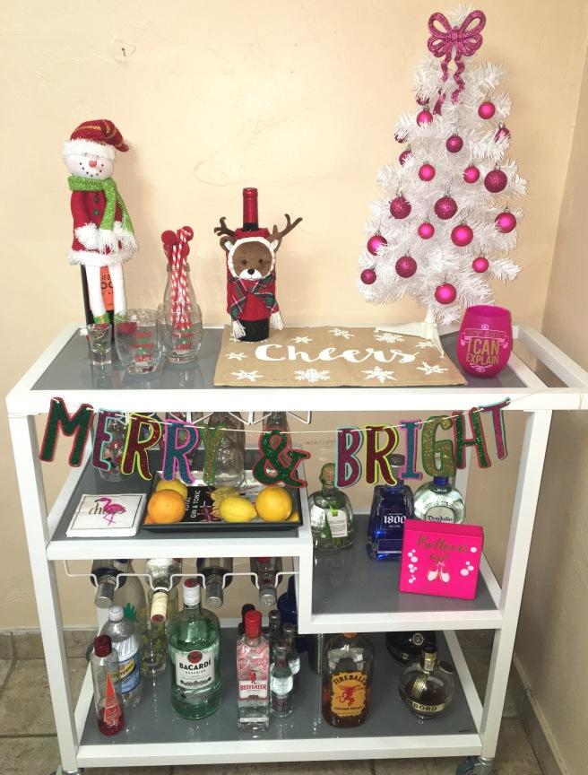 Holiday Home Decor - Bar Cart