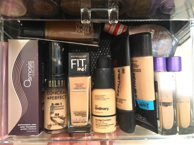 My Makeup Collection - Drugstore Foundations