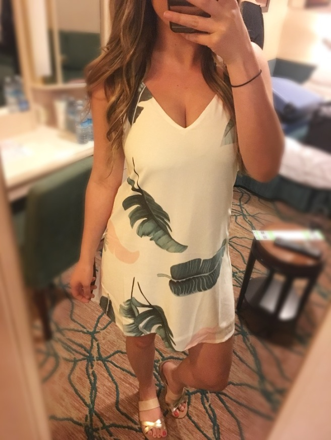Romwe.com Tropical Minidress Under $10: Cruise OOTD