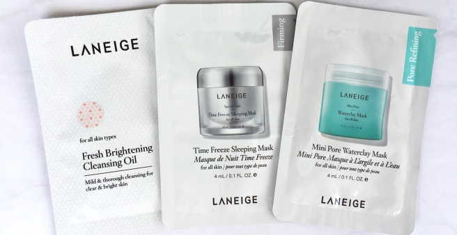 Laneige Skincare Review: Mini Pore Waterclay Mask, Time Freeze Sleeping Mask, & Fresh Brightening Cleansing Oil