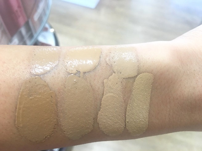 NARS Radiant Longwear Foundation Swatches