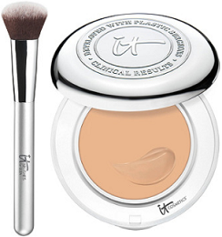 Ulta 21 Days of Beauty Sale - It Cosmetics Confidence in a Compact SPF 50&It Brushes for Ulta Airbrush Smoothing Foundation Brush