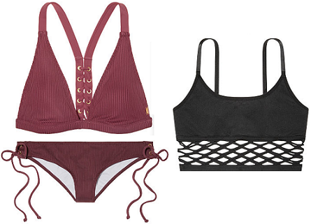 What I Bought In February: Victoria's Secret Ribbed Lace-Up Bikini & Fishnet Bralette