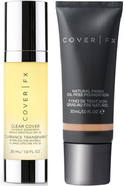 What I Bought in March: Cover FX Natural Finish Foundation with free gift Clear Cover Invisible Sunscreen
