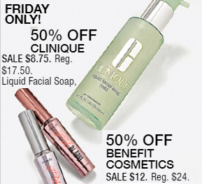 Macy's 10 Days of Glam: Day 1 - Clinique Facial Soap & Benefit They're Real Mascara