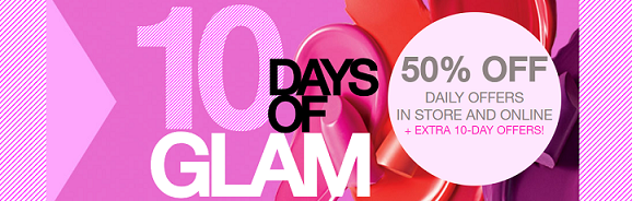 Macy's 10 Days of Glam Beauty Deals 50% Off
