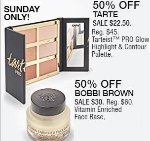 Macy's 10 Days of Glam: Day 3 - Tarte Tarteist Pro Glow Highlight & Contour Palette & Bobbi Brown Face Base