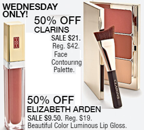 Macy's 10 Days of Glam: Day 6 - Clarins Face Contouring Palette & Elizabath Arden Lip Gloss