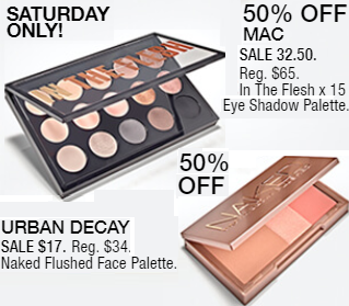 Macy's 10 Days of Glam: Day 9 - MAC In the Flesh Eyeshadow Palette & Urban Decay Naked Face Palette