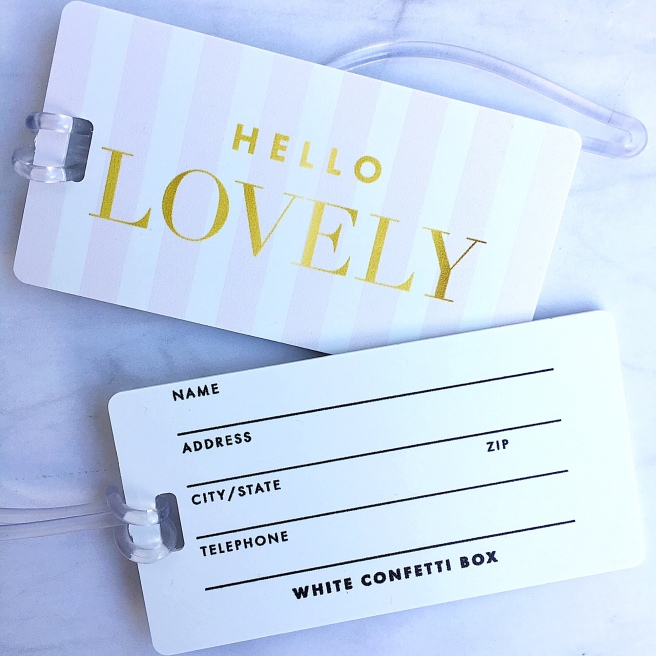 "Bridesmaid Proposal Boxes - ""Hello Lovely"" Luggage Tags"