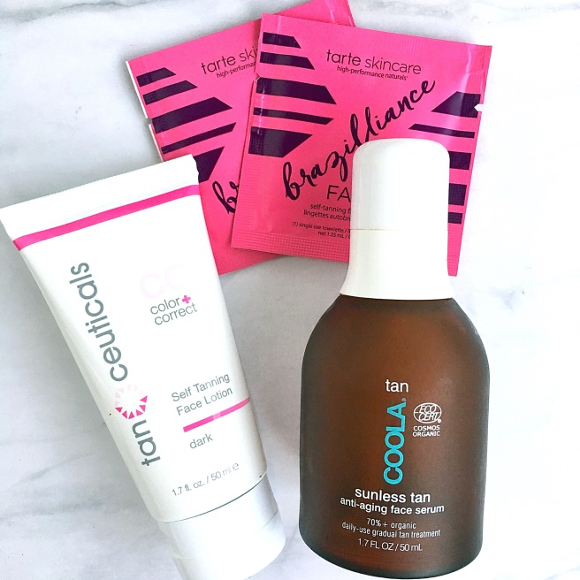 Self Tanners Review - Face Tanners from Tarte, Coola, & TanCeuticals