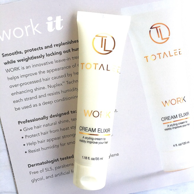TotaLee Haircare Review - Work Cream Elixir