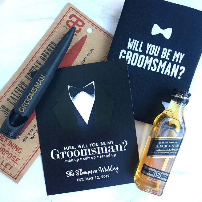 Groomsmen Proposal Boxes Beauty And The Least