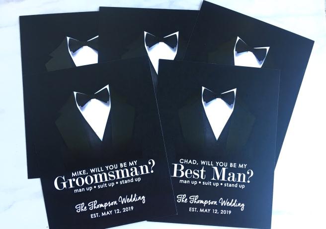 Groomsmen Proposal Boxes - Cards