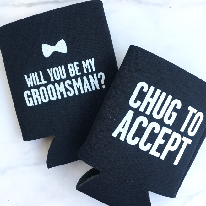Groomsmen Proposal Boxes - Drink Coozies