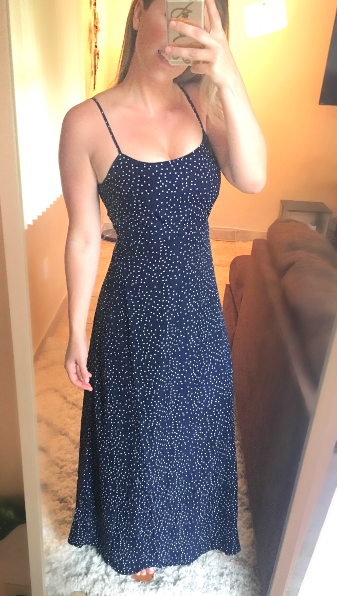 Forever21 Polka Dot Cami Maxi Dress