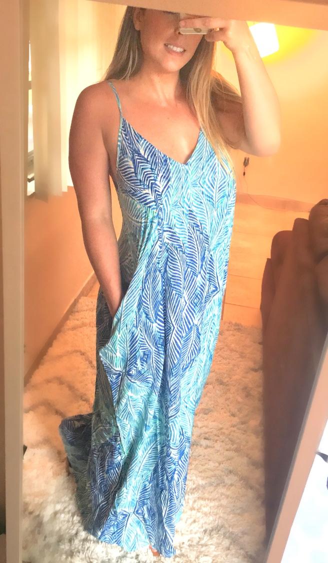 Forever21 Leaf Print Maxi Dress