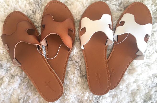 Target Universal Thread Jenny Slide Sandals (Hermes & Steve Madden dupe)