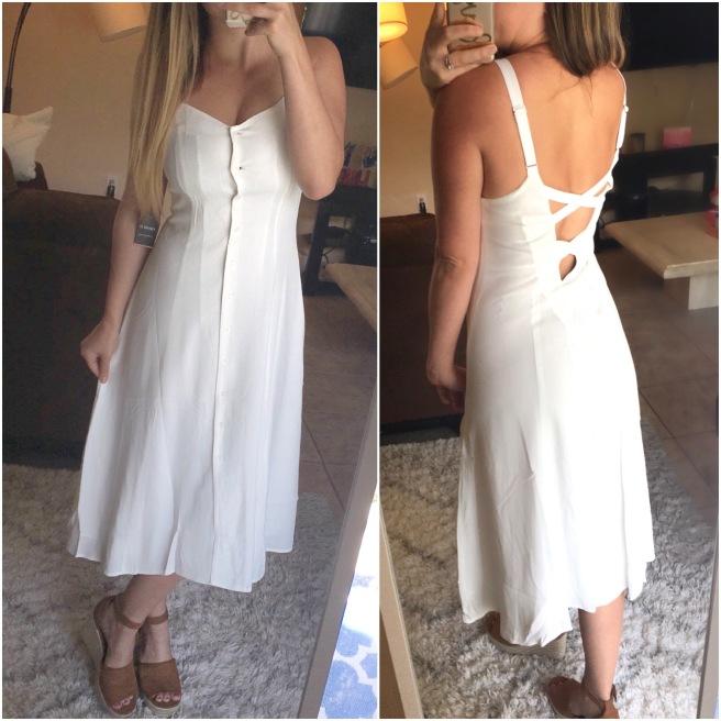 Forever21 White Midi Dress ($25)