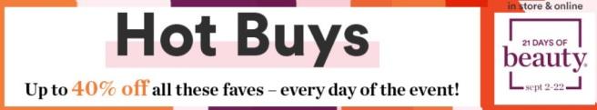 Ulta 21 Days of Beauty: September 2018 - Hot Buys