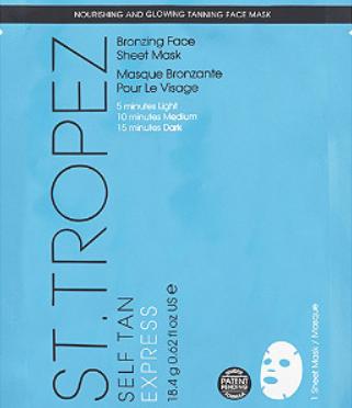 St Tropez Self Tan Bronzing Face Sheet Mask