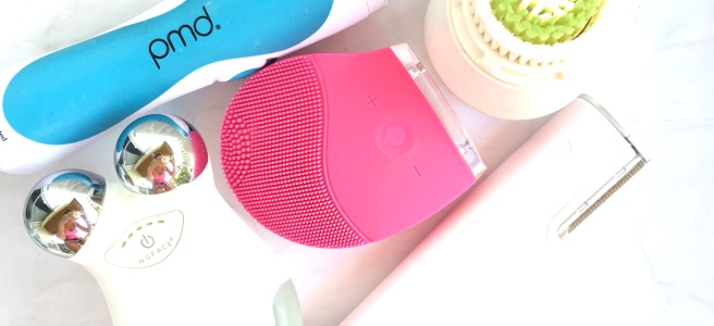 Beauty Devices Review: PMD Microderm, Clarisonic Cleansing Brush, Holistic Beauties BFF Cleanser, Dermaflash Dermaplaning, NuFace Facial Toning