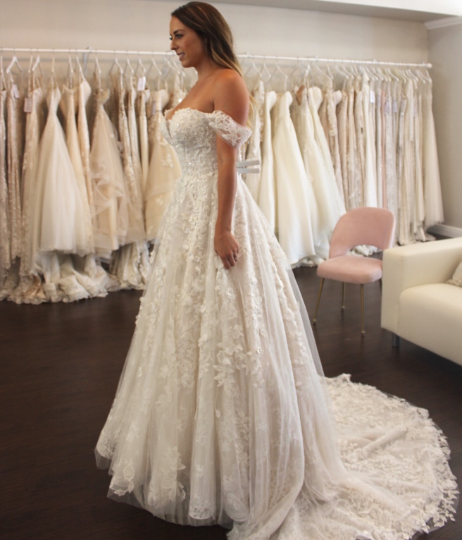 Wedding Dress Shopping at Malindy Elene in Tampa, FL