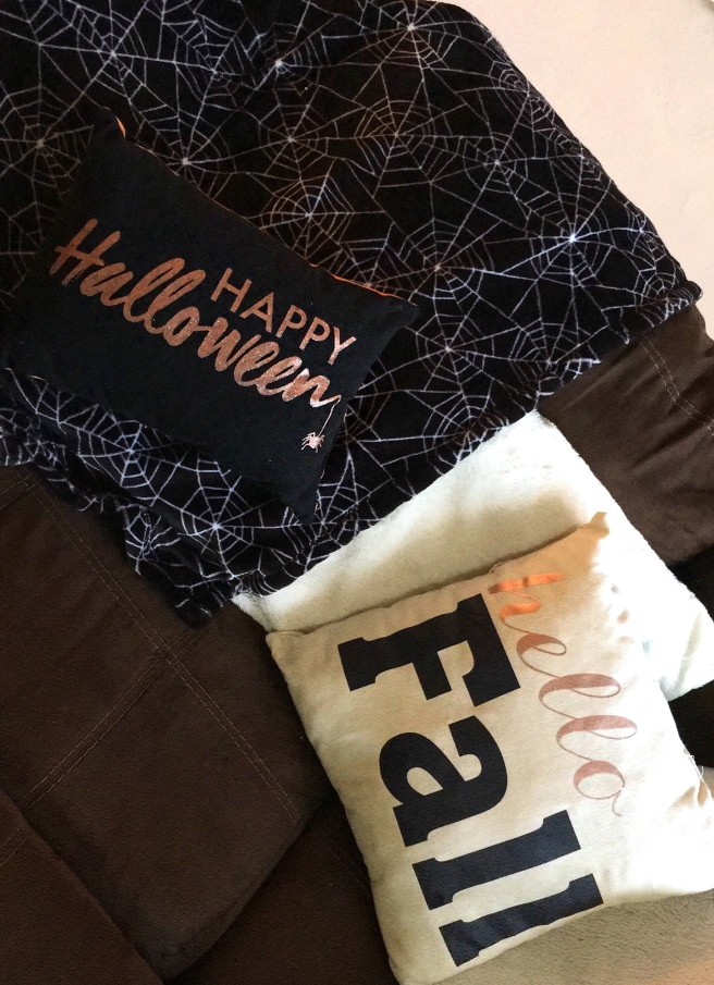 Fall Decorating - Couch