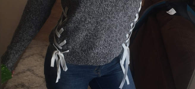 Abercrombie & Fitch Lace-Up Sweater