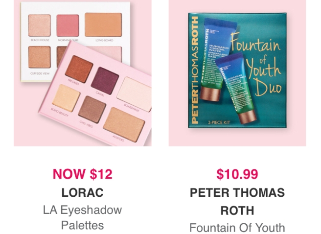 Ulta Black Friday Sale: $12 Lorac LA Palettes & $10.99 Peter Thomas Roth Fountain of Youth Duo